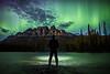 """Emerald Dreams"" I, June 8th 2014 Aurora at Castle Mountain, Banff National Park, Alberta, Canada."