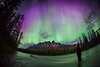 """Purple Rain"" I, June 8th 2014 Aurora at Castle Mountain, Banff National Park, Alberta, Canada."