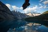 """Two Feet and Ten Peaks"" VIII, Moraine Lake, Banff National Park, Alberta, Canada."