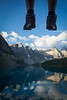 """Two Feet and Ten Peaks"" V, Moraine Lake, Banff National Park, Alberta, Canada."