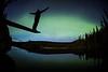 """Alone with the Aurora"" VII, Herbert Lake, Banff National Park, Alberta, Canada."
