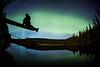 """Alone with the Aurora"" V, Herbert Lake, Banff National Park, Alberta, Canada."