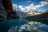 """Two Feet and Ten Peaks"" III, Moraine Lake, Banff National Park, Alberta, Canada."