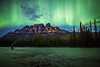 """Emerald Dreams"" II, June 8th 2014 Aurora at Castle Mountain, Banff National Park, Alberta, Canada."