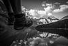 """Two Feet and Ten Peaks"" II, Moraine Lake, Banff National Park, Alberta, Canada."
