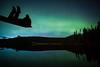 """Alone with the Aurora"" III, Herbert Lake, Banff National Park, Alberta, Canada."