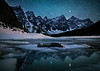 """Adrift""<br /> <br /> Self-portrait, Moraine Lake, Banff National Park, Alberta, Canada."
