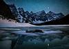 """Adrift""<br /> <br /> Self-portrait, Moraine Lake, Banff National Park, Alberta, Canada."