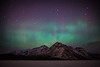 December 7 2013 Aurora, Lake Minnewanka, Banff National Park, Alberta, Canada.