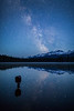"""Starry Stillness"" II, Island Lake, Banff National Park, Alberta, Canada."