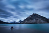 """Marooned"" I, taken during the 2014 Fairmont Tour, Bow Lake, Banff National Park."