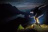 """Peyto Palette"" III, Nighttime at Bow Summit, Banff National Park, Alberta, Canada."