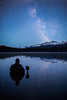 """Starry Stillness"" III, Self-portrait, Island Lake, Banff National Park, Alberta, Canada."