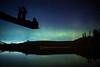 """Alone with the Aurora"" II, Herbert Lake, Banff National Park, Alberta, Canada."