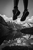 """Two Feet and Ten Peaks"" VI, Moraine Lake, Banff National Park, Alberta, Canada."