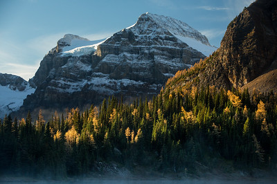 Mountain in the morning light, Mount Assinboine Provincial Park, British Columbia, Canada