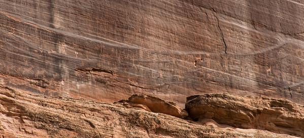 Petroglph wall