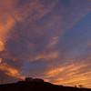 Sunset over water tanks, Chinle, AZ, April 30, 2013.
