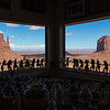 View from the souvenir shop in the Visitor Center, Monument Valley Navajo Tribal Park.