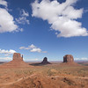 L to R:  Left Mitten Butte, Right Mitten Butte, Merrick Butte in Monument Valley Navajo Tribal Park.