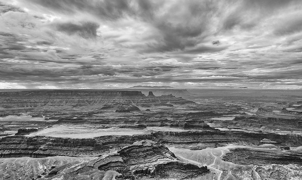 Island in the Sky District of Canyonlands National Park as seen from Dead Horse Point State Park, Utah.