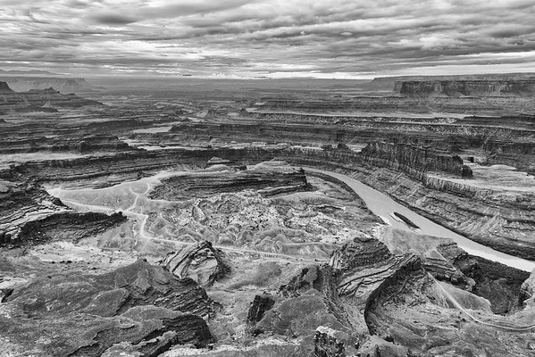 Island in the Sky District of Canyonlands National Park as seen from Dead Horse State Park, Utah.  Colorado River on the right.