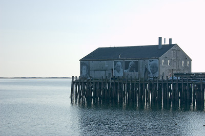 They Also Faced The Sea  Provincetown, MA.   This is a art installation of elderly Portuguese residents of Provincetown by Ewa Nogiec and Norma Holt. On Cabral Pier in Provincetown.