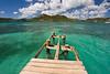 Damaged dock, Pigeon Beach, Antigua.