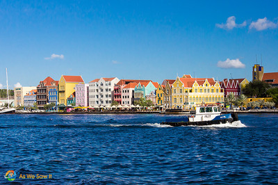 Colorful buildings along the waterfront of Willemstad, Curacao