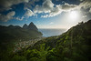 """""""Visions of St. Lucia"""" XII, Soufriere valley and Pitons."""