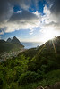 """""""Visions of St. Lucia"""" XV, Soufriere valley and Pitons."""