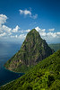 """""""Visions of St. Lucia"""" III, Petit Piton."""