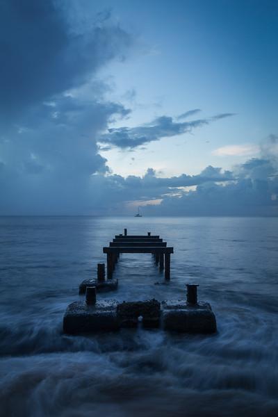 """""""Visions of St. Lucia"""" V, La Toc Pier, Castries."""