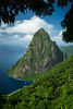 """Visions of St. Lucia"" I, Petit Piton."