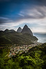"""""""Visions of St. Lucia"""" XIII, Soufriere valley and Pitons."""