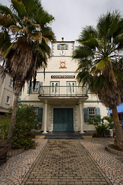 Courthouse on tropical island of Sint Maarten