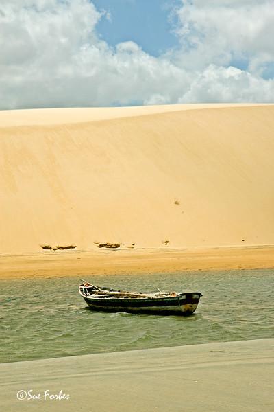Giant Sand dune at Jericoacoara<br /> Giant Sand dune at Jericoacoara, Brazil