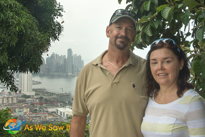 Dan and Linda on Ancon Hill.  Great place to get a photo memory.