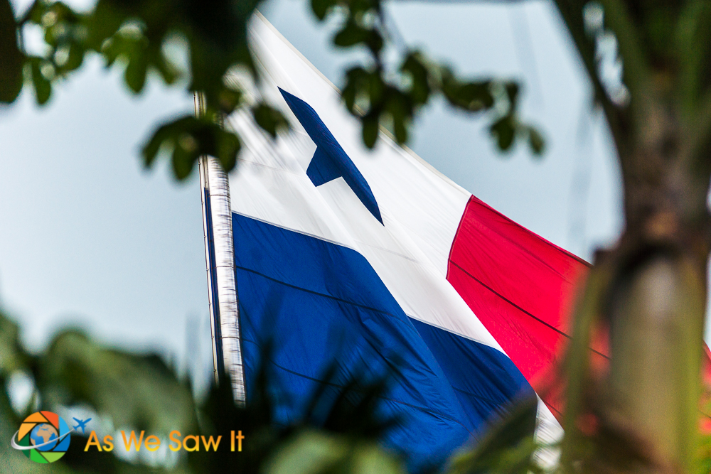Panama Flag a top Ancon Hill