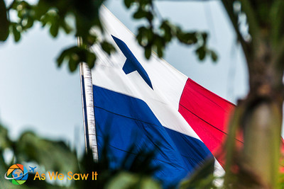 Panama Flag a top Ancon Hill