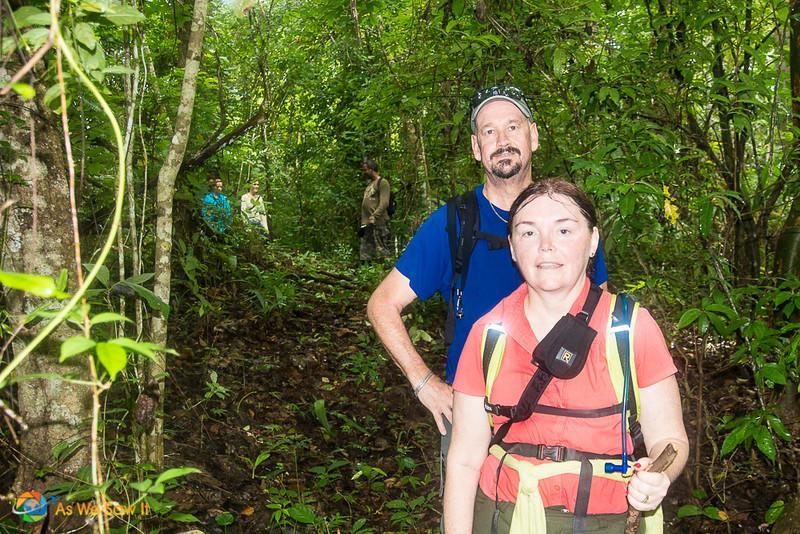 Hiking through the Darien rainforest