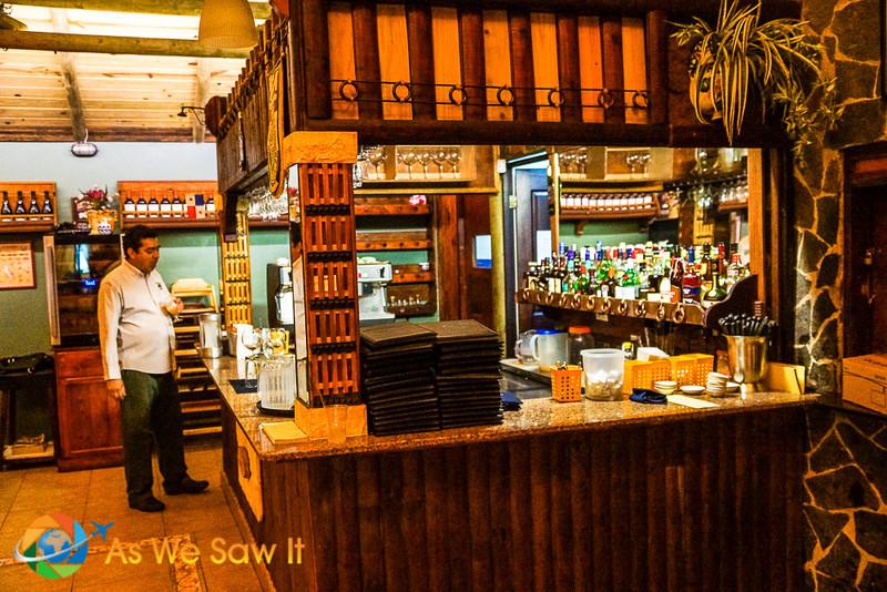Bar with friendly efficient wait staff.
