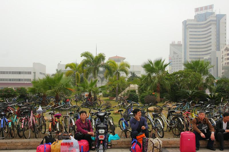 Zhuhai right across the Macau border. Note their method of transportation.