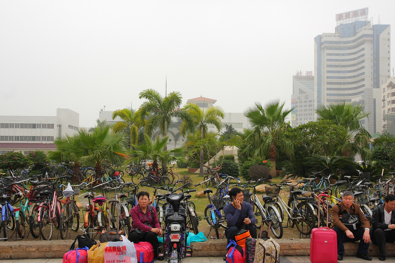 Zhuhai right across the Macau border. Note their method of transportation.