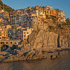 Sun setting on Manarola