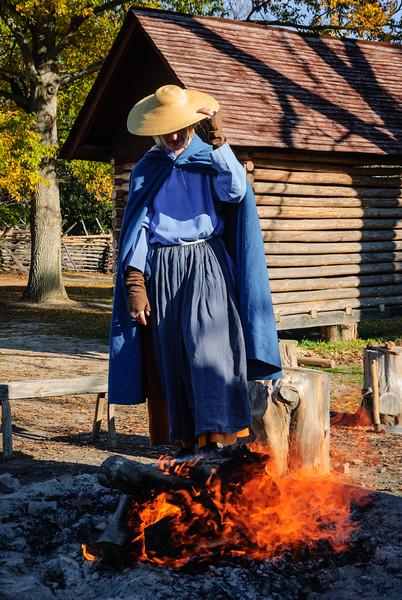 Morning Fire, Colonial Farmstead