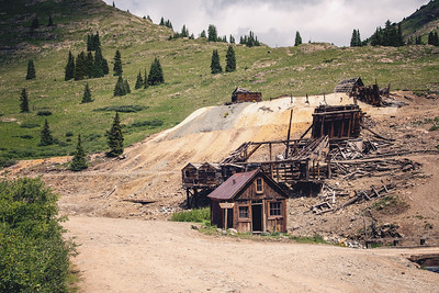 Columbus Mine ruins at Animas Forks