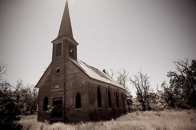 Old Locust Grove church. Near Wasco, OR.