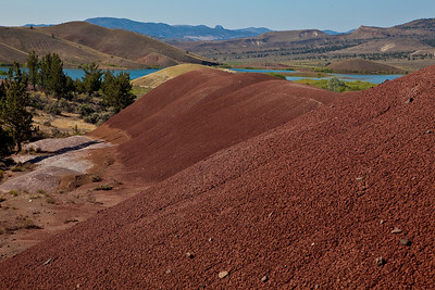 Looking north from the Painted Cove trail, Painted Hills