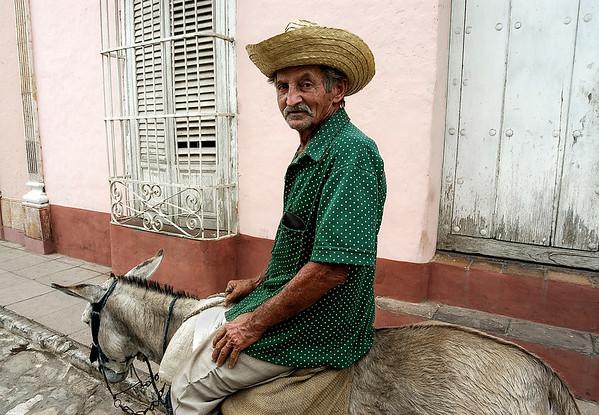 Man on his donkey in Remedios.  Cuba, 2006.